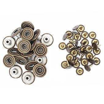 17mm Jeans Buttons With Spiral Circle Pattern