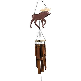 Moose Silhouette Bamboo Wind Chime