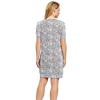 Rosch 1203215-15642 Damen's Pure Fineliner weiß Floral Nachthemd