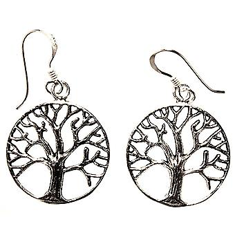 Earring 04 tree of life - silver