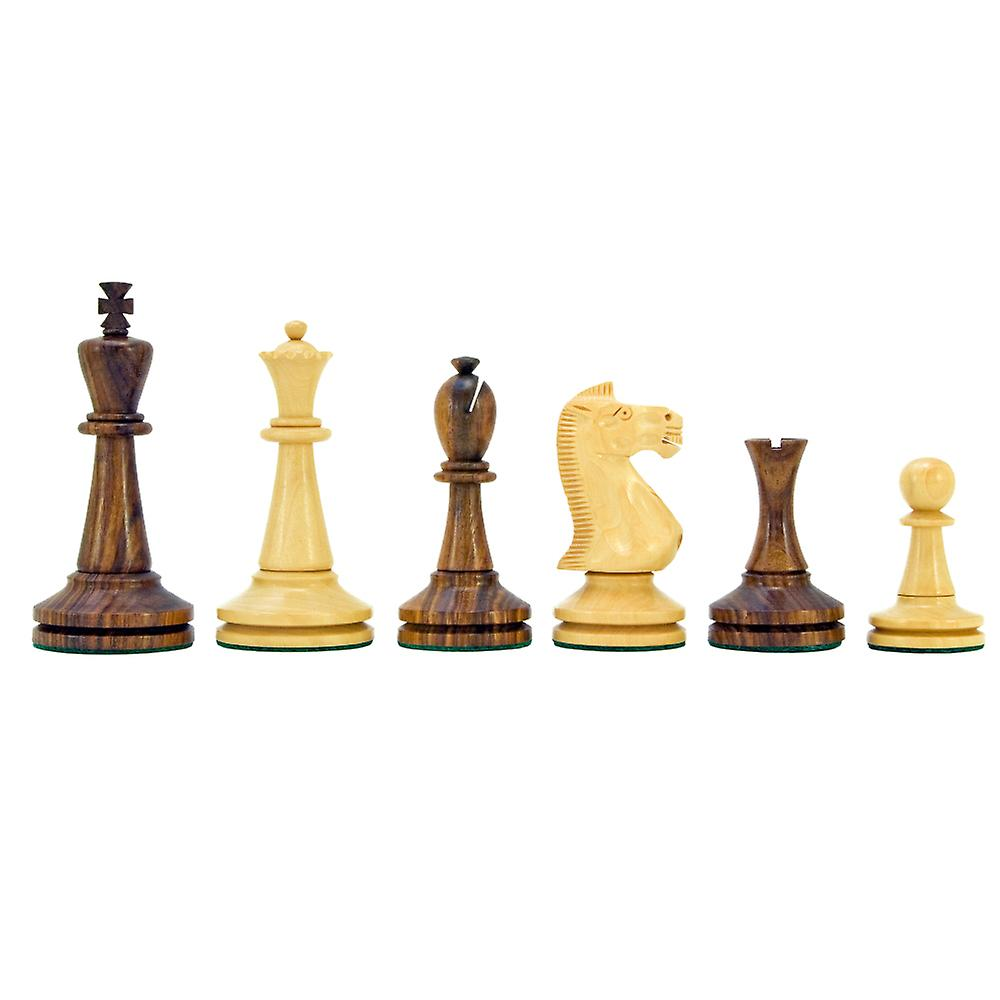 Blackmore Series Sheesham and Boxwood Chess Pieces 4 inches