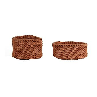 Light & Living Basket Set Of 2 35x25 And 40x20cm Abari Terra