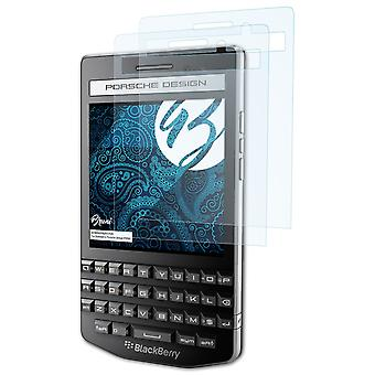 Bruni 2x Screen Protector compatibel met Blackberry Porsche Design P9983 Beschermende film
