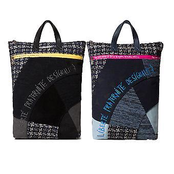 Desigual Women's Liberte Patch Baza Smart Tweed Patchwork Backpack