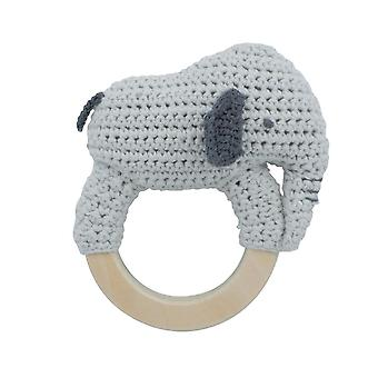 Sebra - baby rattle - finley on ring