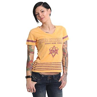 YAKUZA Women's T-Shirt International Stripes V Neck Acid