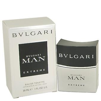 Bvlgari Man Extreme door Bvlgari Eau DE Toilette Spray 1 oz / 30 ml (Mannen)