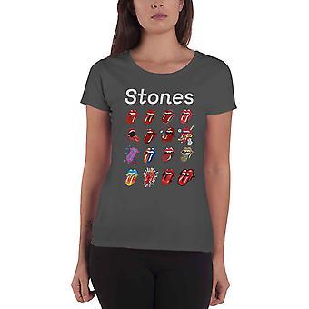 The Rolling Stones T Shirt Tongue Evolution Tour nowy oficjalny węgiel damski