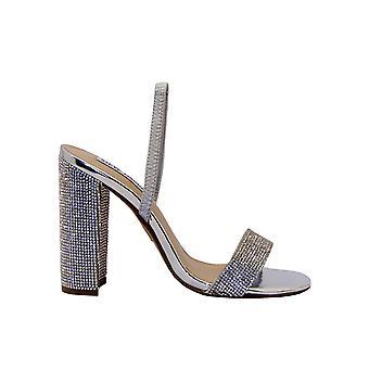 Steve Madden Cameorrhinestone Women's Silver Glitter Sandaler