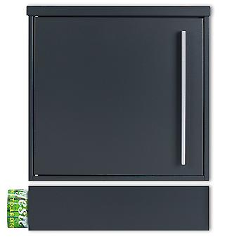 MOCAVI Box 101 7016 ZF 1 7016 Skrzynka na listy antracytowo-szary (RAL 7016) z przedziałem na gazety można zainstalować oddzielnie