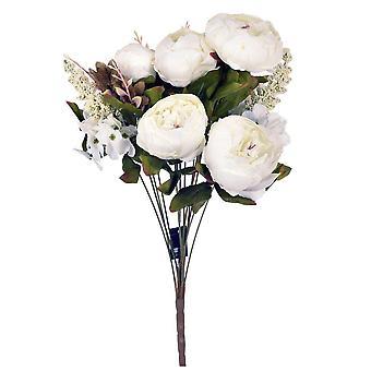 Künstliche Blumen Bouquet Pfingstrosen Weiß
