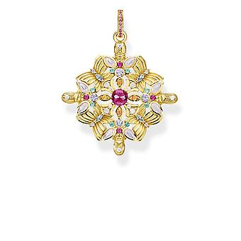 Thomas Sabo Sterling Argent Sterling Argent Amulette Kaleidoscope Gold Butterfly Pendant PE877-996-7