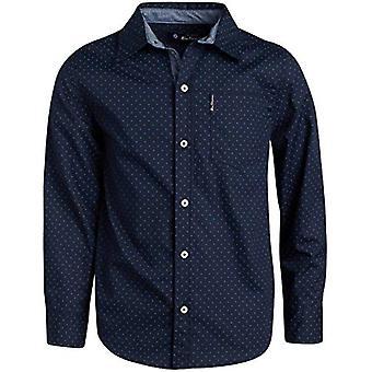 Ben Sherman Boys Long Sleeve Button Down Shirt, Red, Size Medium (10/12)
