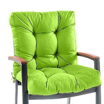 Cojín de asiento de la silla gardenista Gardenista con la espalda Tejido fácil y fácil de limpiar resistente al agua ? Cojín de asiento para muebles de comedor al aire libre e interior ? Toque suave y cómodo (lima)