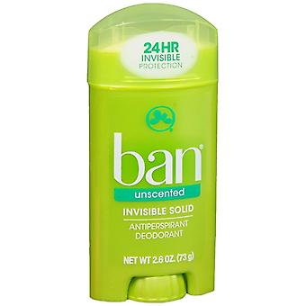 Ban invisible solid, antiperspirant & deodorant, unscented, 2.6 oz