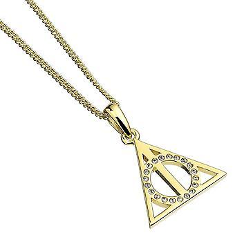 Heiligtümer des Todes vergoldet Sterling Silber Halskette mit Swarovski-Kristallen