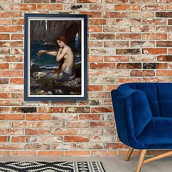 John William Waterhouse - zeemeermin Poster Print Giclee