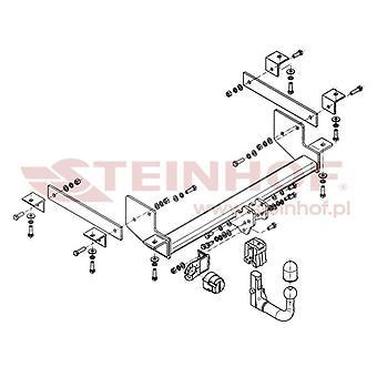 Steinhof Automatyczny odłączany pasek holowniczy (pionowy) dla Opla MOVANO B Box 2010-2015
