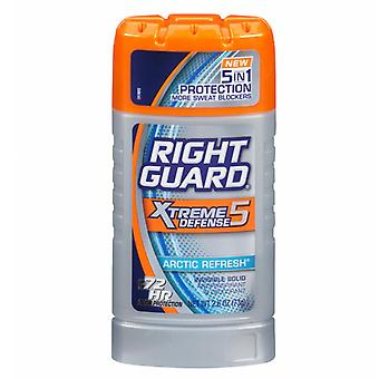 Right guard xtreme defense 5 antiperspirant, arctic refresh, 2.6 oz