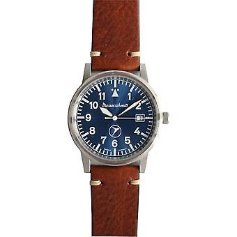 Aristo Men's Messerschmitt Watch ME-9673BLVIN Leather