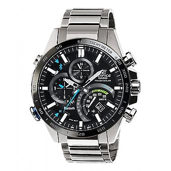 Casio Watches Eqb-501xdb-1amer Edifice Bluetooth Silver And Black Stainless Steel Tough Solar Powered Watch