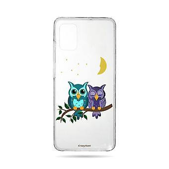Hull For Samsung Galaxy A71 Flexible Owls In Moonlight