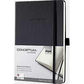 Sigel CONCEPTUM® CO120 Notebook Blank Black No. of sheets: 97 A5