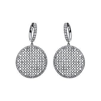 Diamond earrings earrings - 18K 750/- white gold - 3.68 ct. - 2C713W8-2