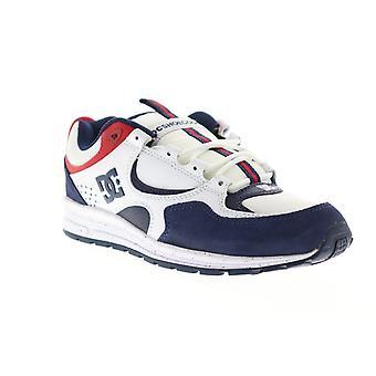 DC Kalis Lite SE  Mens White Suede Low Top Skate Sneakers Shoes