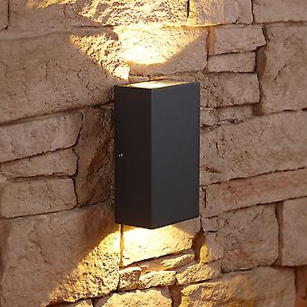 Biard Matte Black Square Cube LED Indoor Outdoor Wall Wash Up Down Light IP54
