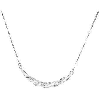 KJ Beckett Twist Bar halsband - Silver