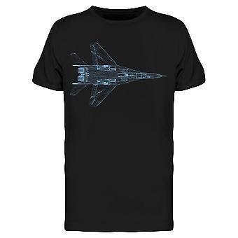Metallilanka lentokoneen Blue Tee Men's -Kuva Shutterstock
