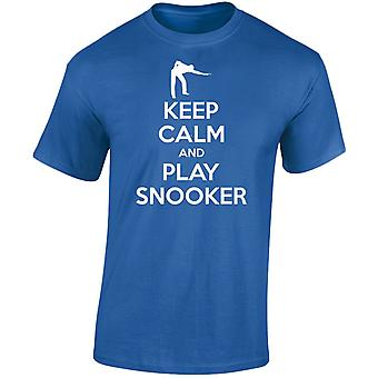 Keep Calm And Play Snooker Mens T-Shirt 10 Colours (S-3XL) by swagwear