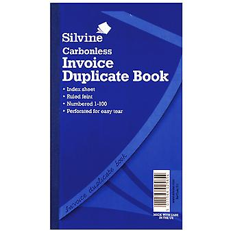 Silvine Large Carbonless Invoice Book Feint 200 Sheets (Pack Of 6)