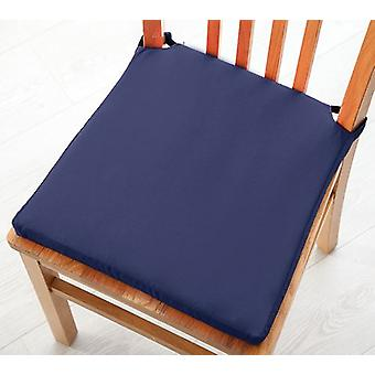 Changing Sofas Navy Blue Cotton Twill Dining Chair Seat Pad Cushion, Pack of 1