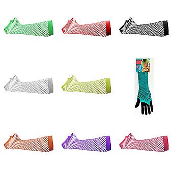 Silky Womens/Ladies Long Fishnet Gloves (1 Pair)
