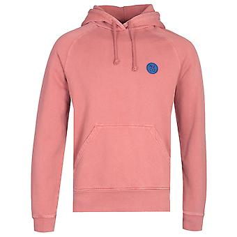 Nudie Jeans Co Marcus NJCO CIrcle Dusty Red Pullover Hoodie