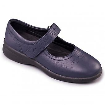 Padders Sprite 2 Ladies Leather Extra Wide (3e/4e) Scarpe Navy
