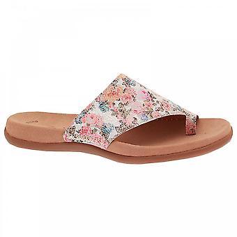 Gabor Women & apos;s Flat toe Post Sandal White Multi