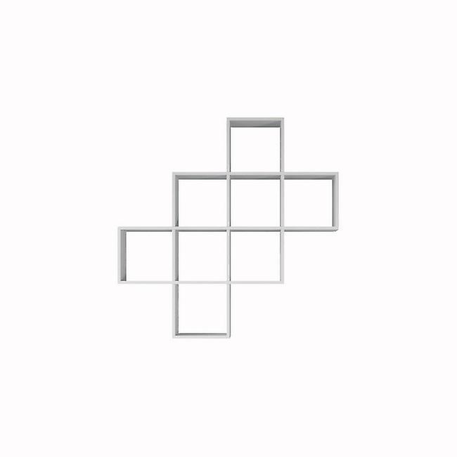 Libreria Davie Color Bianco in Truciolare Melaminico 115x22x115 cm