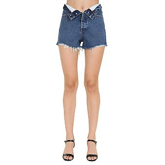 Alexander Wang.t 4dc22204769403 Dames's Blue Cotton Shorts