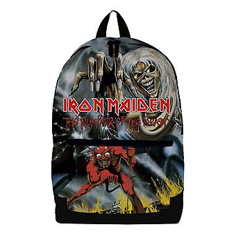 Iron Maiden Backpack Bag Number Of The Beast Band Logo Eddie new Official Black