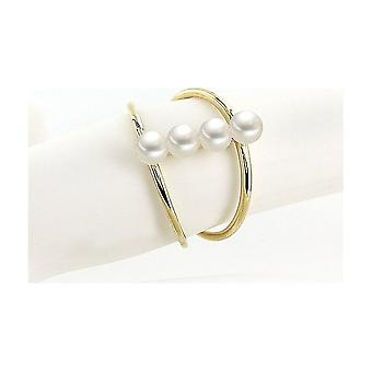 Luna-Pearls Pearl Ring Freshwater Pearls 585 Yellow Gold Ring Size 56 (17.8mm) 1065056-004