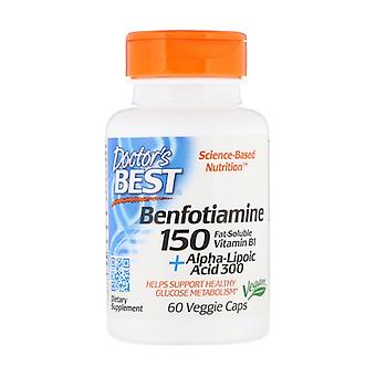 Benfotiamine 150 + Alpha-Lipoic Acid300 60 plantaardige capsules