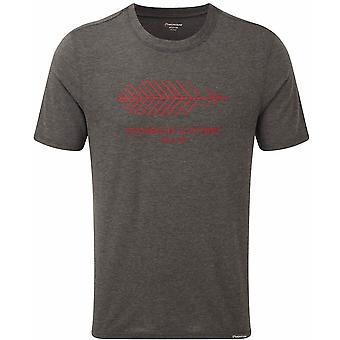 Montane Mens Neon Featherlite Kleding T-Shirt - Klein - Houtskool