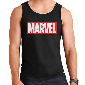 Marvel Classic logo valkoinen fontti miesten ' s Vest