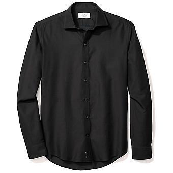 BUTTONED DOWN Men's Slim Fit Supima Cotton, Zwart, Size Medium Short