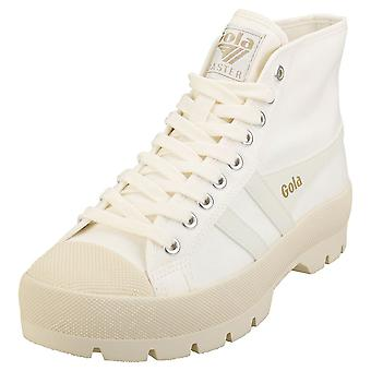 Gola Coaster Peak High Womens Platform Trainers in Off White