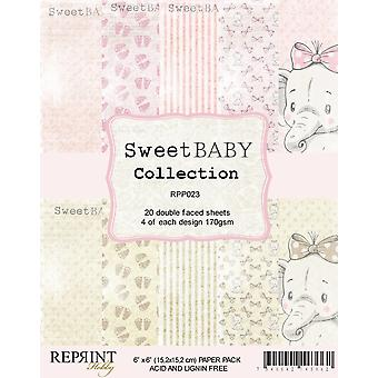 Reprint Sweet Baby Pink 6x6 Inch Paper Pack