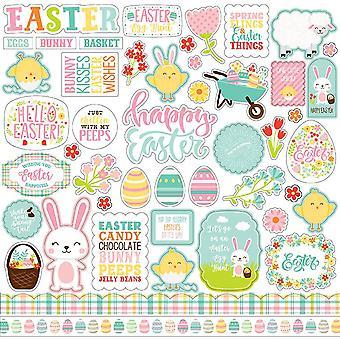 Echo Park Ostern Wünsche 12 x 12 Zoll Element Aufkleber
